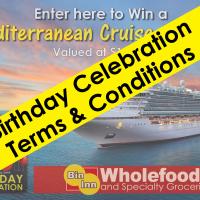 Bin Inn  Birthday Celebration Terms & Conditions