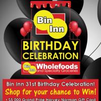 Bin Inn Birthday Celebration!